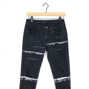 Levis Paint Splat Striped Black Skinny Jean